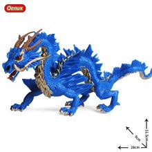 Oenux Simulação Big Size Mitológico Dragão Chinês Animais Modelo Lendário Dragão Vermelho Phoenix Animal Action Figure Toy Kids(China)
