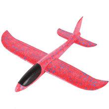 Modelo de avión DIY de mano de lanzamiento de aviones de ala voladora juegos al aire libre Parent-child Trick Foam Airplane Toy Glider juguetes de bebé para niños(China)