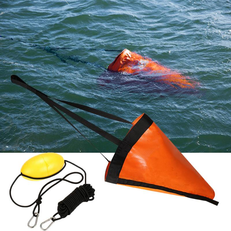 30ft Kayak Tow Rope Buoy Ball Float Suitable for The Ocean Boat//Wind Boat//Inflatable Boat//Power Boat etc Ikerall Drift Socks sea Anchor Hook 32 inch Orange