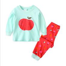 الأطفال الخريف منامة مجموعة ملابس الأولاد والبنات الكرتون ملابس خاصة دعوى مجموعة أطفال طويلة الأكمام + بانت 2- قطعة الطفل الملبس(China)