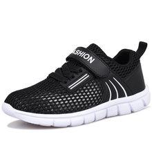 2020 קיץ נער צעיר סניקרס שחור ירוק ילדים נעלי ריצה רשת הולו ילדי בית ספר בנים רך Sole ילד ספורט נעליים(China)