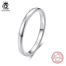 ORSA جواهر 925 فضة خواتم النساء الكلاسيكية جولة كاملة تمهيد AAA مكعب الزركون الاشتباك خاتم الزفاف الفرقة للفتيات SR63(China)