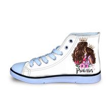 HYCOOL سوبر أمي الفتيات الاطفال الأطفال رياضية أحذية رياضية شقة مريحة عالية أعلى حذاء قماش أحذية مشي الأحذية الأبيض(China)