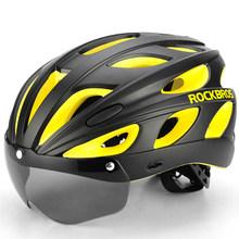 ROCKBROS จักรยานหมวกกันน็อกผู้ชาย EPS Integrally-Molded Breathable ขี่จักรยานผู้หญิงแว่นตาเลนส์ Aero MTB ROAD จักรยานหมวกนิร...(China)