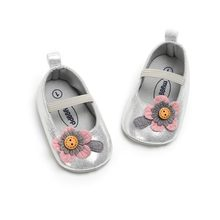 Spring Fashion Princess Autumn Flower Shoes Baby Sweet Kids Girls Anti-skid PU Children Shallow First Walkers Shoes 0-18M(China)
