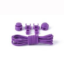 Nuevo 1 par de cordones de zapato de bloqueo Unisex zapatilla elástica cordones de zapatos deportivos mujeres hombres perezoso Candy Color cordones Rojo Negro(China)