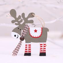 Cervo Decorazione Di Natale Per Il Nuovo Anno Decorazioni Di Natale Per La Casa Tavolo di Legno Decorazioni Di Natale Renna(China)