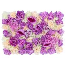 Шелковая Роза искусственная Цветочная стена вечерние украшения повесить на стену Цветочный Коврик романтический для свадьбы задний фон ук...(Китай)