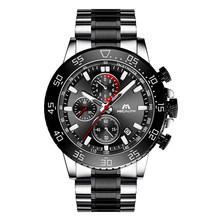 MEGALITH zegarki męskie wodoodporny zegar analogowy moda ze stali nierdzewnej wodoodporny zegarek świetlny mężczyźni sport Relogio Masculino(China)