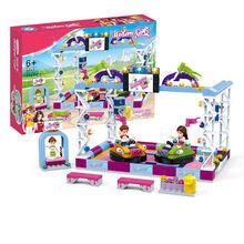 فتاة الأصدقاء سلسلة متنزه دُولابٌ دَوّار Legoed نموذج بناء كتل الطوب Playgame لعب ل ألعاب أطفال هدايا(China)