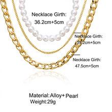 Modyle Pria Kalung Rantai Stainless Steel Emas Kalung untuk Pria Wanita Curb Cuban Perhiasan(China)