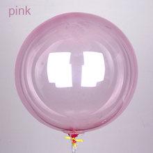 5 unids/lote 16 pulgadas colorido Globo de Cristal redondo Bobo transparente globos de boda Decro bolas inflables de helio(China)