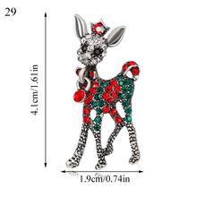 31 Warna Pohon Natal Rusa Snowman Bell Bros Fashion Pin Lucu Kristal Logam Santa Claus Xmas Bros Pesta Hadiah Wanita pria(China)