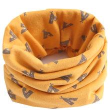 Осенний Детский шарф-бандана, зимний теплый хлопковый шарф с воротником для мальчиков и девочек(China)