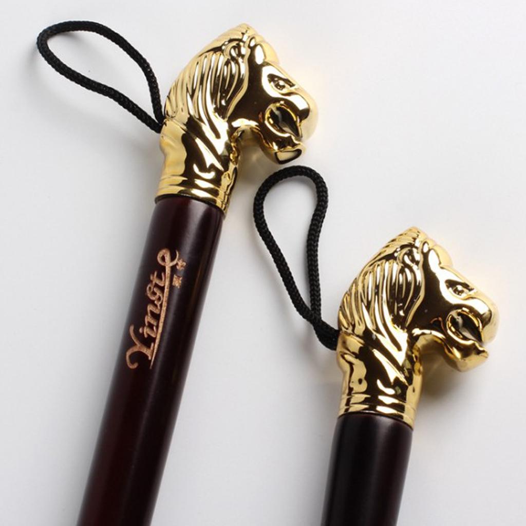 Gold Color Lion Head Long Handle Shoe Horn Home Shoehorn Wooden Durable Lightweight Shoes Guide 58cm