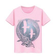 Chłopiec dziewczyna bawełniana koszulka koszulki dzieci deskorolka Teeshirts koszulka dziecięca wikingowie serial telewizyjny Odin's Raven Ragnar Lodbrok T Shirt(China)