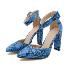 QUTAA 2020 Frauen Pumps Leopard PU Leder Flock Sandalen Platz High Heels Spitz Schnalle Mode Sommer Frauen Schuhe 34 -43(China)