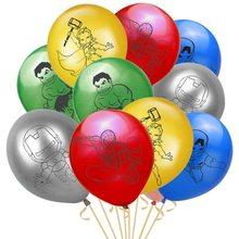 1pc spiderman avião helicóptero folha balões tema super-herói hélio balões de ar do bebê menino festa de aniversário decoração kds brinquedos presente(China)