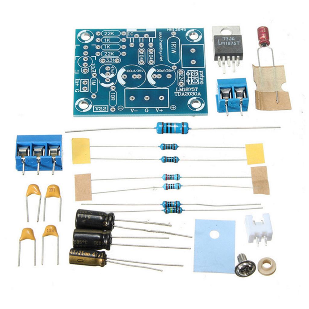 DIY Amplifier Board Module Parts Kit for 20w LM1875T Single Channel High Fidelity Audio Power Amplifier