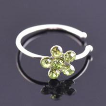 1 шт Мода нержавеющая сталь Кристалл горный хрусталь кольцо в нос кольцевой Пирсинг нос гвоздики для пирсинга украшения для ушного пирсинга(China)