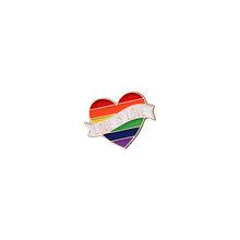 9 stile LGBT di Design Arcobaleno Creativo Cuore Yeh Dito Spille Spilla In Metallo Spilli Distintivo Denim Smalto Dei Monili del Regalo delle donne unsix(China)