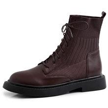 FEDONAS Mới Miếng Dán Cường Lực Chính Hãng Da Đan Giày Boot Cổ Ngắn Nữ Mắt Cá Chân Giày Công Sở Nữ Mùa Đông 2020 Ấm Giày Cao Gót(China)