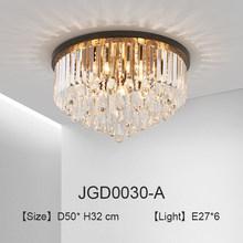 Современный светодиодный потолочный светильник с кристаллами, черный потолочный светильник для детской комнаты, домашнее освещение для го...(China)
