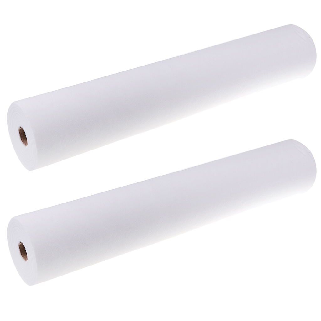 100 Sheets/2 Roll Non-Woven Headrest Paper Roll Spa Salon Massage Bed Table Cover Tattoo Supply- 50x70cm