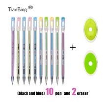 Набор стильных ручек для письма, моющаяся ручка, синий, черный цвет, чернильные ручки для письма, шариковые ручки для школы, офиса, канцелярс...(China)