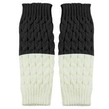 Kadın örme bacak isıtıcıları çorap bot kılıfı guetre femme sıcak tutmak calentadores de mujer para invierno moda slouch çorap(China)