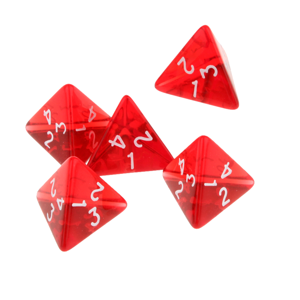 15 Pieces Polyhedral Dice D4 4-sided for Dungeons and Dragons DND Board Games Red
