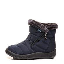 Moda Düz Kadın Kar Botları Sıcak Kürk Kadın Kış Su Geçirmez Çizmeler Kadın yarım çizmeler Açık Ayakkabı Kadın Bota H280(China)