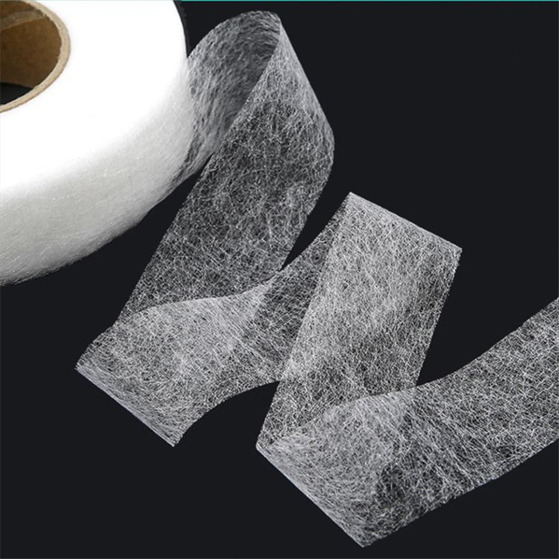 White Fuse Tape Adhesive Hem Interlining Non-woven Patchwork for Cloth Craft