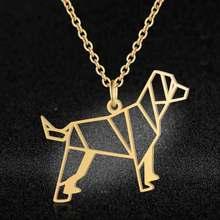 ייחודי בעלי החיים תכשיטי שרשראות לנשים 100% נירוסטה סופר אופנה חתול כלב פנדה קוף תליון שרשרת מתנה מיוחדת(China)