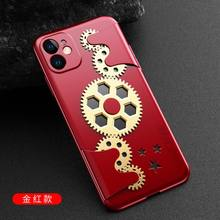 GKK الأصلي ميكانيكي الروتاري الضغط والعتاد حقيبة لهاتف أي فون 11 برو ماكس X XS ماكس XR حافظة حماية كاملة المضادة للسقوط غطاء صلب(China)