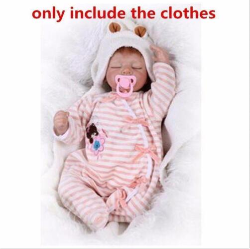 """2019 New 22/"""" Reborn Baby Girl Doll Pink Clothes Outfit Kawaii Dress Accessory"""