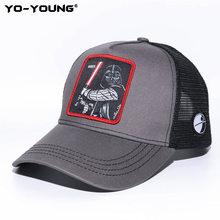 Yo-Young قبعة بيسبول للرجال النساء حرب النجوم دارث فادار Stormtrooper قبعات الذكور الإناث قبعة البايسبول سناب باك قبعة الشمس 53-59 سنتيمتر(China)