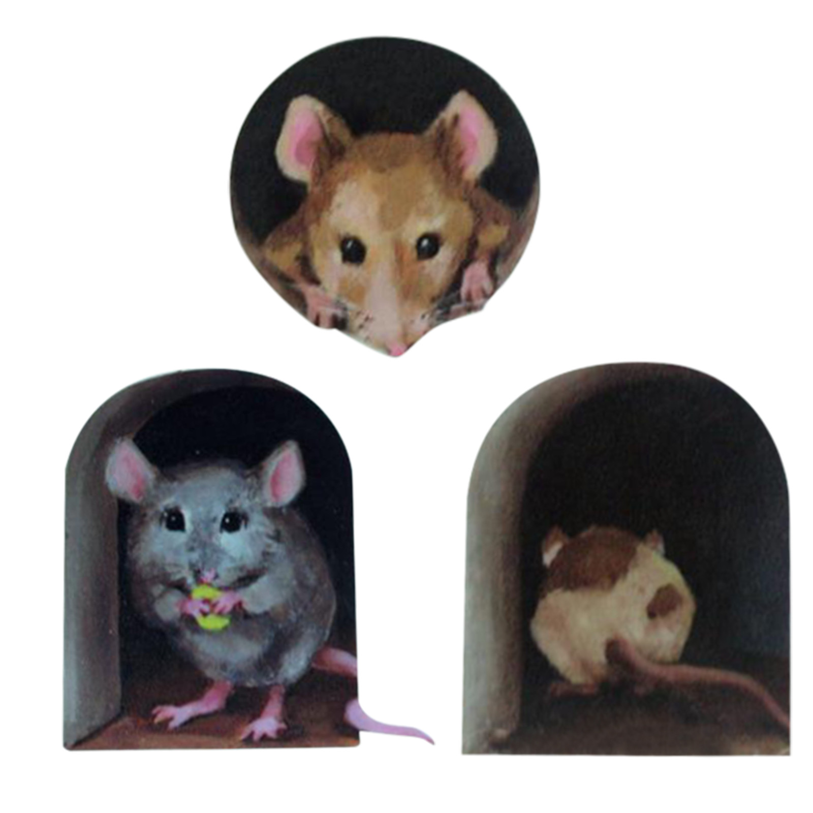 Cute Mice And Mouse Hole Funny Wall Sticker Decal Art Decoration Removable jian