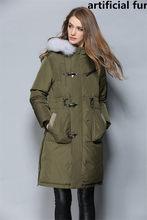 재킷 여자 진짜 겨울 여우 모피 칼라 후드 화이트 오리 재킷 남자 파카 두꺼운 여자 코트 Chaqueta Mujer WXF517(China)