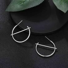 מינימליסטי תכשיטי עיצוב פשוט קטן עגילי עבור נשים כסף זהב עגול מעגל עגילי חדש אופנה Brincos(China)