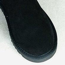 Véritable cuir femmes bottines hiver femme bottes DE neige femmes chaussures vraie fourrure papillon plate-forme femme chaussures grande taille DE(China)