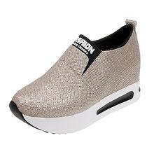Kadınlar için spor ayakkabı Platform ayakkabılar bayanlar düz kalın alt ayakkabı üzerinde kayma yarım çizmeler platformu spor ayakkabılar tıknaz ayakkabı #20(China)
