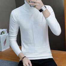 2019 NEW Hot sale 겨울 망 패션 스웨터 및 풀오버의 Men Brand 스웨터 남성 겉 옷 Jumper 니트 터틀넥 스웨터(China)