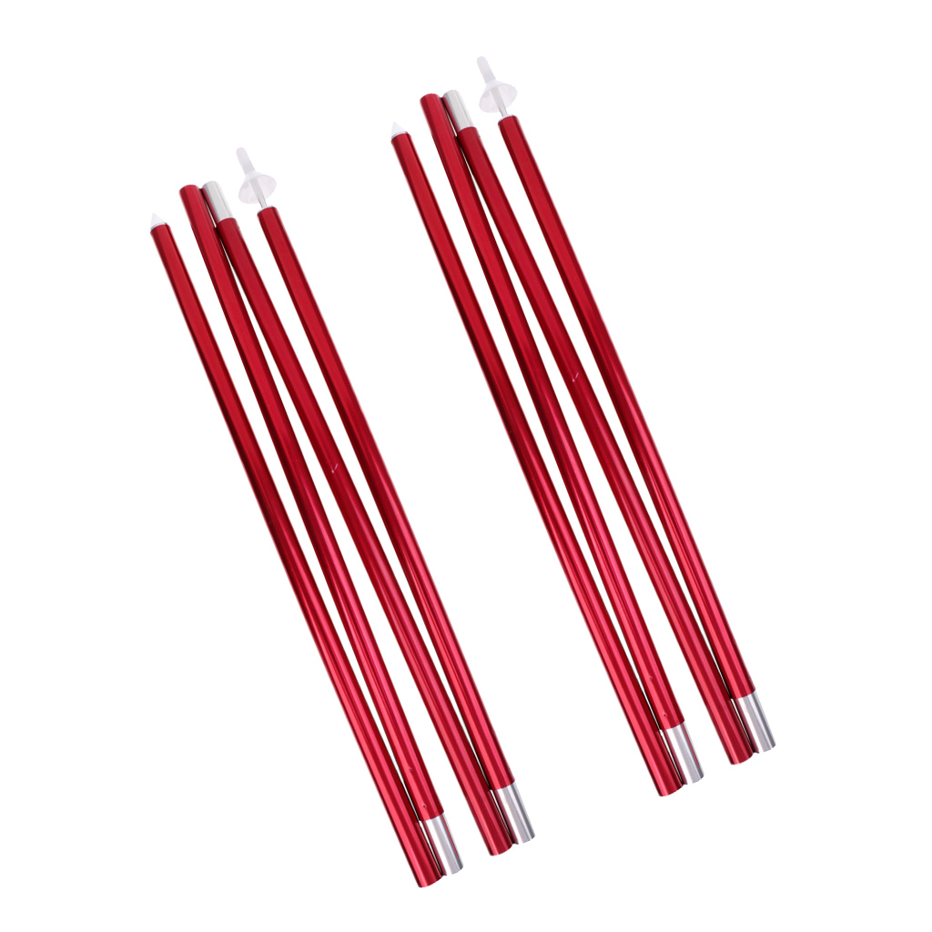 2 Pieces/ Set 6.56ft Folding Pointed Bottom Tent Canopy Tarp Awning Poles Rods Support Bars + Storage Bag