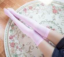 Yeni kadın bayanlar kablo örgü ekstra uzun çizme çorap diz üzerinde uyluk yüksek okul kız çorap siyah turuncu pembe beyaz cilt(China)