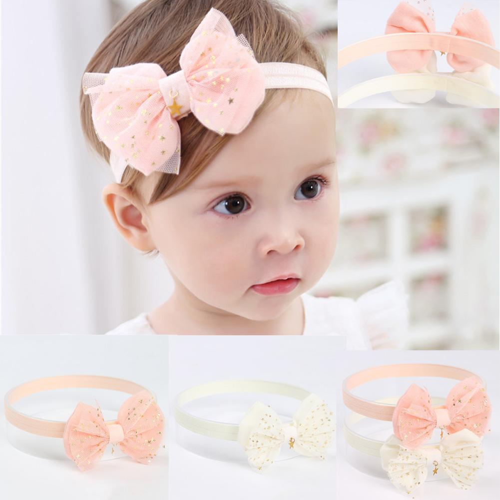 10Pcs Girl Newborn Baby Infant Flower Headband Hair Bow Band Photo Props Sweet