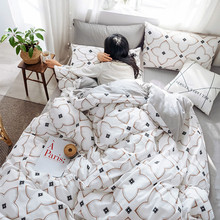 Yimeis Bed Linen Cotton Nordic Comforter Bedding Sets Double Soft Queen Bedding Set BE45343(China)