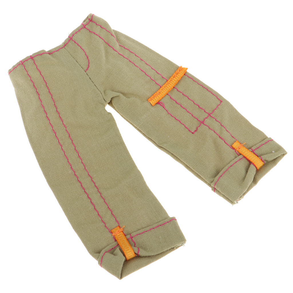1/6 Doll Casual Pants Trouser For 30cm BJD Doll Dress Up Clothing Accs Army Green