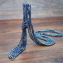 Yumfeel Brand New kryształ Tassel naszyjnik ręcznie 9 kolory szklane koraliki naszyjnik długi łańcuch biżuteria moda 3 sztuk/zestaw(China)