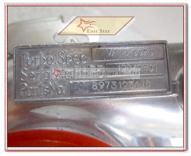 RHF5 8973125140 Turbocharger Turbo For ISUZU Trooper SUV 2000-2011 Opel Monterey B SUV 1998-1999 4JX1T 4JX1TC 3.0L DTI 160HP (6)